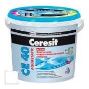 Затирка цементная Ceresit Ce 40 Aquastatic белая 2 кг